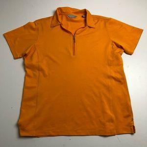 Callaway Orange Quarter Zip Golf Shirt Polo Large